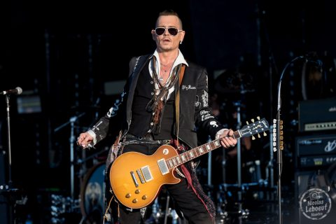 Il s'agit du concert de Hollywood Vampires avec  Alice Cooper, Johnny Depp, and Joe Perry Hellfest 2018