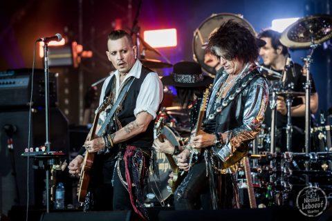 Il s'agit du concert de Hollywood Vampires avec  Alice Cooper, Johnny Depp, and Joe Perry Hellfest 2018