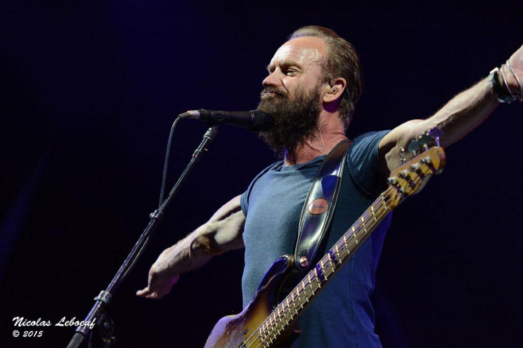 Sting chanteur Police concert Leboeuf Live